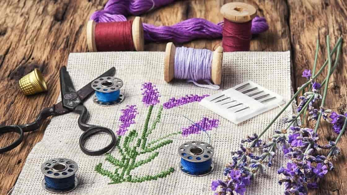 embroidery tools and materials