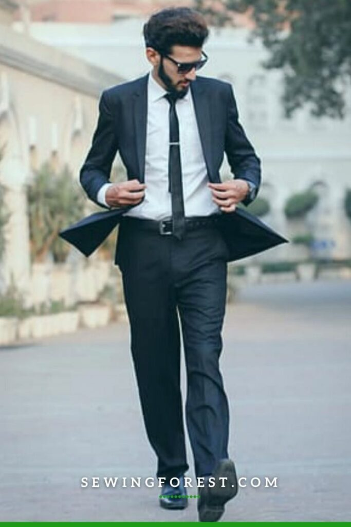 Dark Suit White Shirt with Oxford Shoes