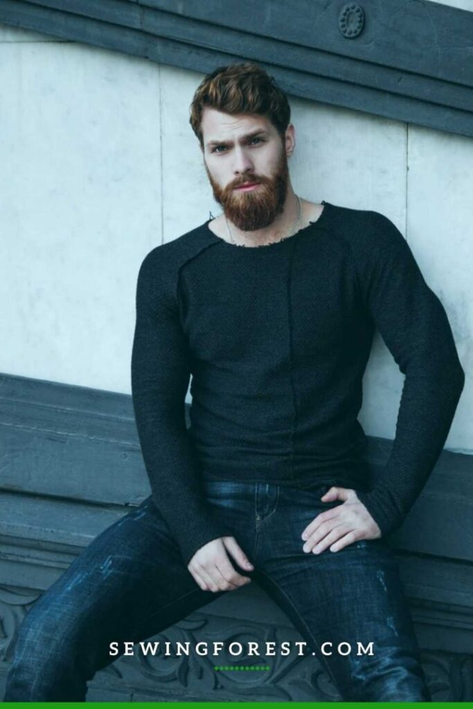 Full Sleeve Black T shirt with Black Denim