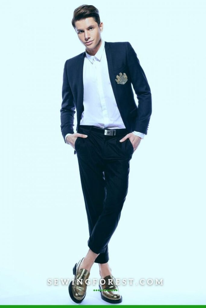 Suit with Button Front Shirt and Pant