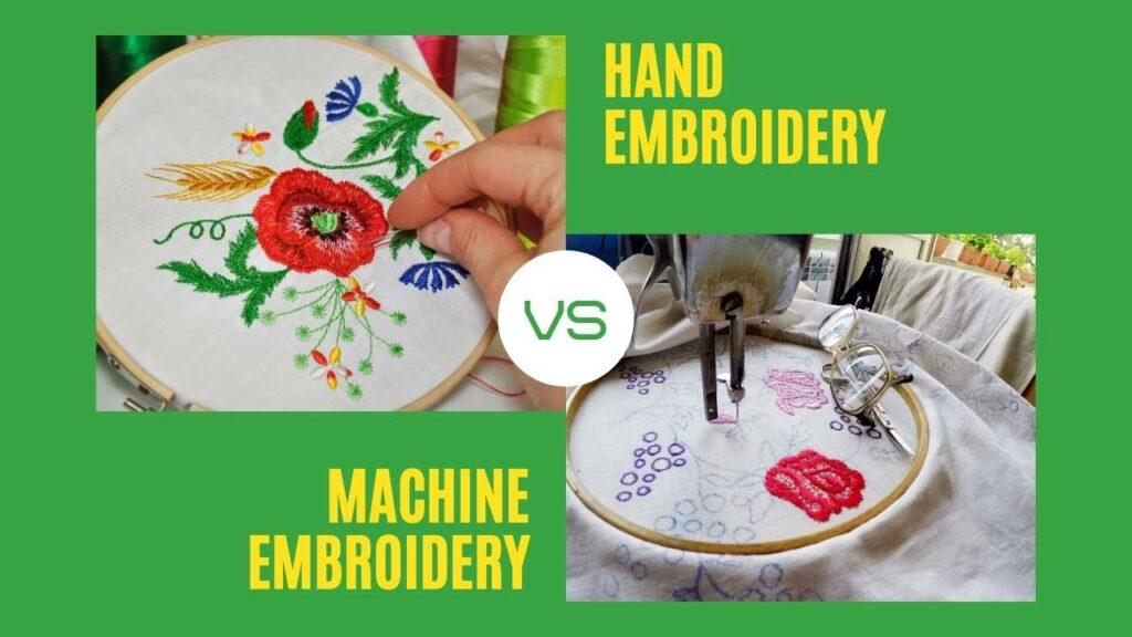 hand vs machine embroidery